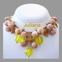 JULIANA Book Piece BAUBLES Glass & Rhinestones Fun DANGLING Necklace
