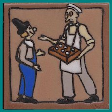 Mosaic Tile Nursery Tile , Simon the Pie Man