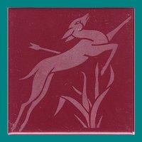 Mosaic Tile Co., Zanesville, OH, Art Deco design, c 1920's