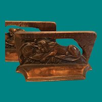 Lions of Lucerne Bookends
