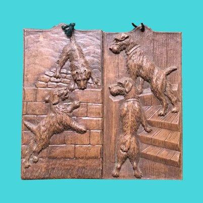 Terrier Dogs plaque