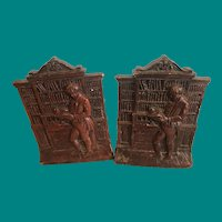 Reading a Book from the Library, Syroco Bookends