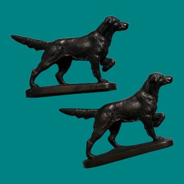 Setter Bookends 1926 Littco, iron