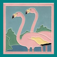 American Encaustic Tile Flamingos