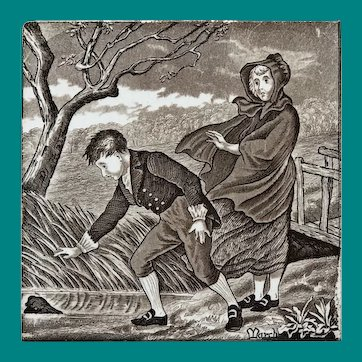English Transfer Tile Wedgwood March