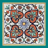 "Spanish 8"" Decorative Tile"