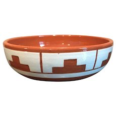 """Sioux Native American  Signed Swift Eagle SP-RC-SD 5 1/2"""" ART Pottery Bowl"""