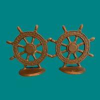 Ship Wheel Bookends