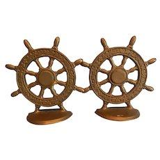 Ship Wheel Bookends