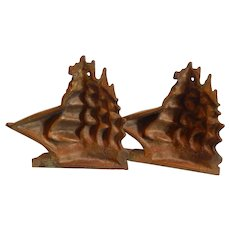 Four Masted Sailing Ship Bookends