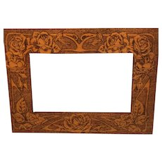 Flemish Art Pyrography Frame
