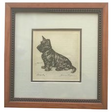 Diane Thorne signed print Scottish Terrier