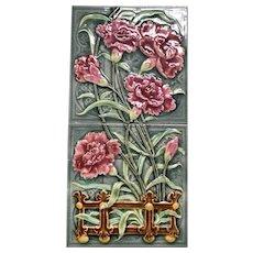 Set of English Majolica Tiles