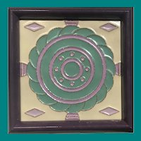 Mosaic Tile Co., Zanesville, OH, Art Deco design, c 1920's
