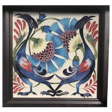 Moorcroft Tile Limited Edition 2013 , 38 of 50.