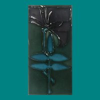 Art Nouveau Tube lined Tile by Minton China Works, ca 1905