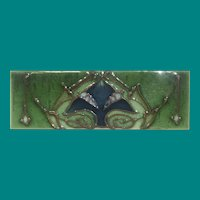 Art Nouveau Tile, Sherwin & Cotton Tile Co. c 1907-1908, Tube lined