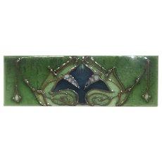 Art Nouveau Tile, Sherwin & Cotton Tile Co. c 1907-1908, Tube lined