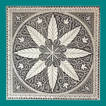English Transfer Tile by Minton Hollins