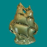 Gonder Art Pottery-Schooner TV Lamp, Vintage, Rare Item