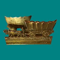 Vintage Brass Letter Holder The Overland Trail 1849