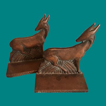 Set of Gazelle Bookends ca. 1925