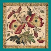 English Transfer Tile Wedgwood April
