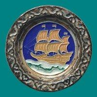 Royal Delft Porcelyne Fles Galleon Tile