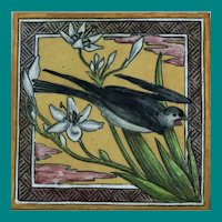 WB Simpson & Sons, polychrome Bird Tile