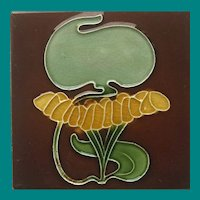 English Art Nouveau Tile