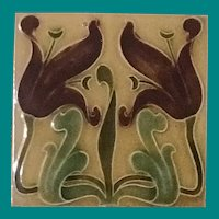 Art Nouveau Tile, English
