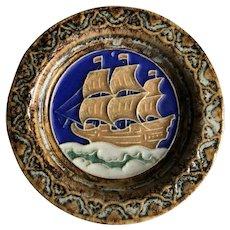 Royal Delft Faience or The De Porceleyne Fles Co. Ship Tile