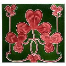 Art Nouveau Tile, English