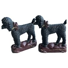 Poodle Bookends made by Syrocco