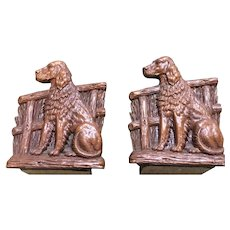 Syrocco English Setter Bookends