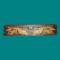 Flemish Art Poinsettia Box, Pyrography