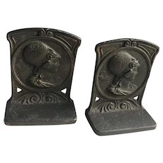 Minerva Iron Bookends by Judd.