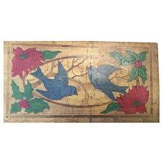 Flemish Art Box with Blue Birds