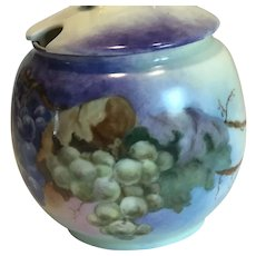 Bavaria Hand Painted Compote Jar