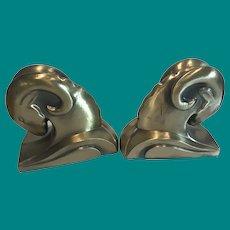 Art Deco Rams Head Bookends