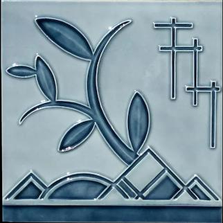 Somag Meissen Jugendstil Tile