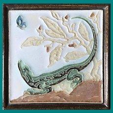 Royal Delft Tile Alligator