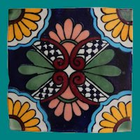 Arts & Crafts Tile in iron trivet