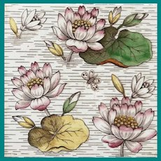 Aesthetic Tile Water Lilies 1890's