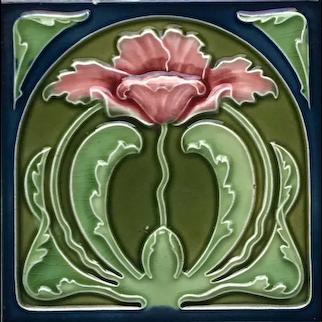 MO & PF. Meissen Art Nouveau Tile