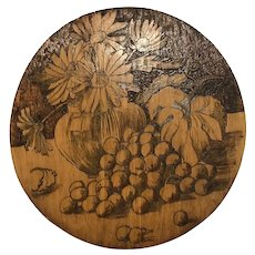 Flemish Art Flowers in pottery bowl & Grapes
