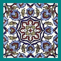 """Spanish 8 """" Decorative Tile"""