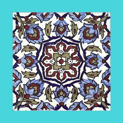 "Spanish 8 "" Decorative Tile"