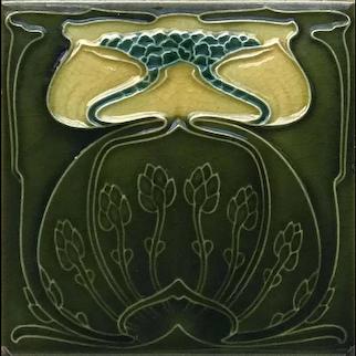 Marsden Tile c 1906 / 08, English Art Nouveau Tile