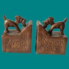 Art Deco Scottie Dog Bookends